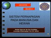 PPT SISTEM PERNAPASAN MANUSIA DAN HEWAN