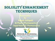 Solubility Enhancement Techniques For Poorly Soluble Drugs