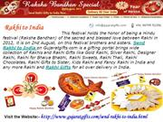 Rakhi Gifts to India from Gujaratgifts.com