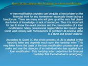 quest LC Inc. advises the first step to a loan modification