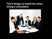 9 things to look for in a consultant -authorstream
