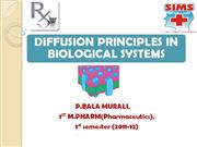 diffusion in biological systems-balu