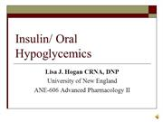Insulin-Oral Hypoglycemics-Part I