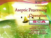 Aseptic Processing ( SPS ; SOAU )