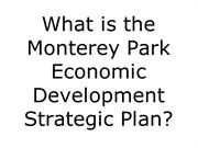 What is the Monterey Park Strategic Plan
