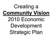 Creating Community Vision - Strategic Planning