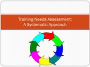 TRAINING NEEDS ASSESSMENT -A SYSTEMATIC APPROACH (1)