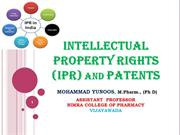 IPR AND PATENTS