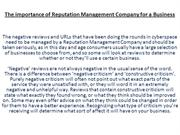 The importance of Reputation Management Company for a