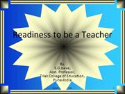 Readiness to be a Teacher