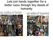 Lets join hands togerther for a better nation