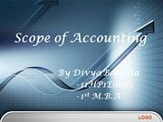 Scope of Accounting