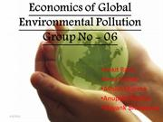 Economics of global environmental pollution