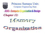 Chapter 12 Memory Organization