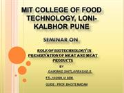 role of biotechnology in preserving meat & meat products