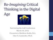 Re-Imagining Critical Thinking in the Digital Age