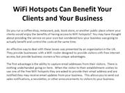 WiFi Hotspots Can Benefit Your Clients and Your Business