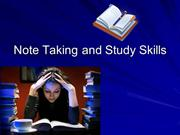 Note Taking and Study Skills