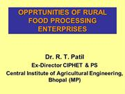 Opportunities in food processing at Panchayat level