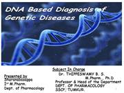 DNA Based Diagnosis of Genetic Diseases