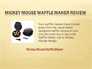 Mickey Mouse Waffle Maker Will Have Your Kids Asking For More