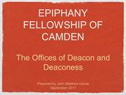 Epiphany Camden - Deacon Training