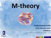 M-theory: The Theory Everything