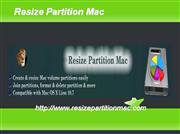 resize partition mac