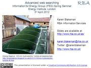Advanced Web Searching, IFEG, 3rd April 2012