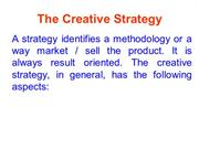 THE CREATIVE STRATEGY