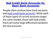 Bad Credit Bank Accounts Vs Basic Bank Accounts