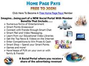Home Page Pays New Social Networking Site Presentation