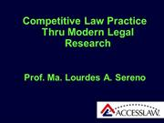 MODERN LEGAL RESEARCH