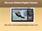recover deleted digital camera