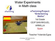 Water experiments in Maths