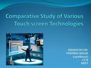 Touch screen ppt
