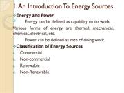 1-INTRODUCTION TO ENERGY SOURCES
