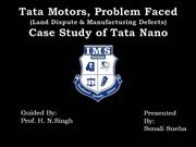 A CASE STUDY ON TATA NANO  BY: MS. SONALI SNEHA