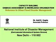 Disaster damage capacity building