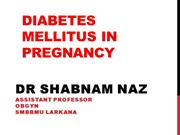 diabetes in pregnancy by shabnam naz