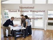 International Performance management