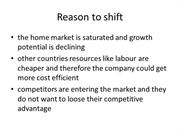 Reason to shift