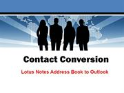 Lotus Notes Address Book to Outlook Converter