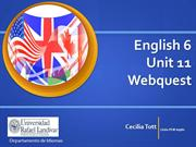 English 6 Unit 11 Webquest Grammar