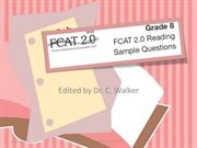 8th grade FCAT 2.0 practice Released test