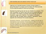 How Hearing Aids Can Greatly Affect Your Life-valuehearing