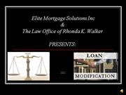 Elite Loan Modification Presentation