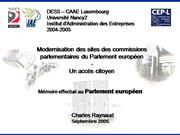 Modernisation des sites des commissions