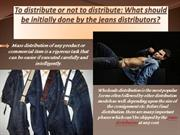 To distribute or not to distribute