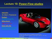 Lecture 11 - Power-flow studies
